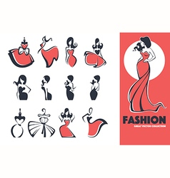 Fashion emblems vector