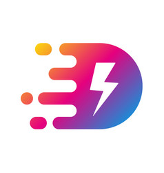 fast power energy logo template vector image