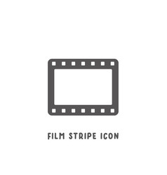 film stripe icon simple flat style vector image