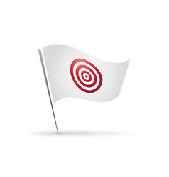 flag with red target icon vector image