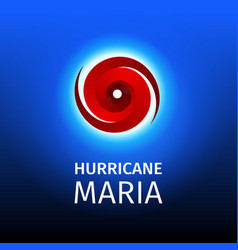 Graphic banner of hurricane maria vector