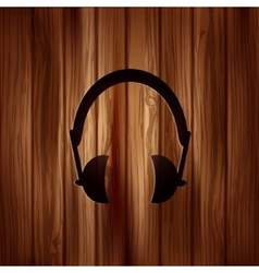 Headphones icon Musical accessory vector image