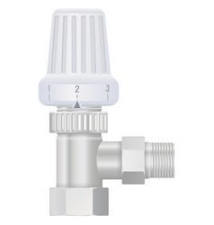 heating valve with plastic knob vector image