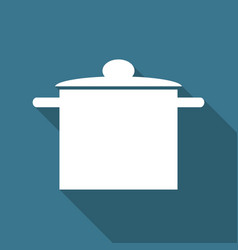 icon kitchen on long shadow vector image