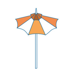 Isolated cute umbrella vector