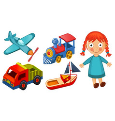 kids toys isolated on white background vector image