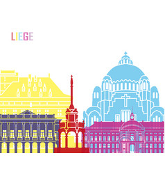liege skyline pop vector image