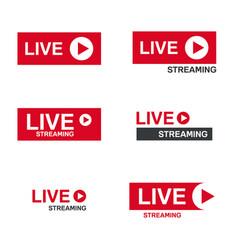 live stream symbol vector image
