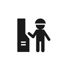 mass production engineer icon - simple element vector image