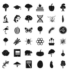 microbiology icons set simple style vector image