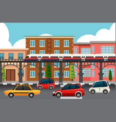 Modern town transportation systems vector