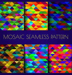 Mosaic triangles texture vector