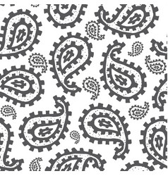 Paisley seamless pattern vector