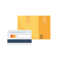 payment by credit card for express delivery vector image
