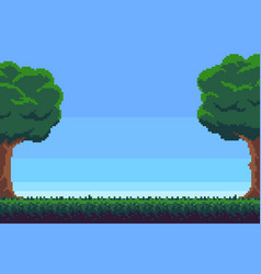 Pixel game background vector