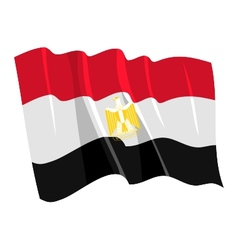 Political waving flag of egypt vector