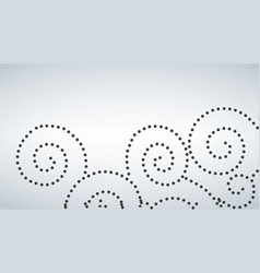 Seamless curly dot pattern white background vector