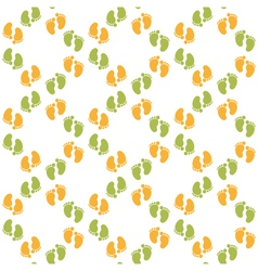 seamless pattern with baby footprint vector image
