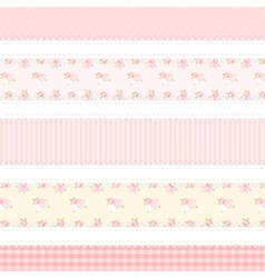 shabby chic provence style 5 backgrounds vector image
