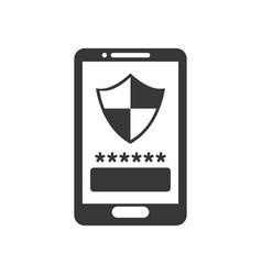 Smartphone password security vector