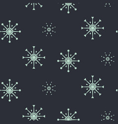 snowflake seamless blue pattern vector image