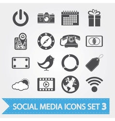 Social media icons set 3 vector image