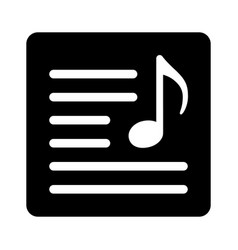 Song lyrics or music sheet icon vector