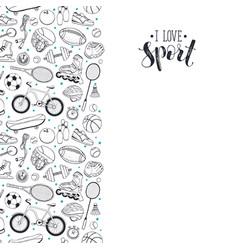 Sport doodles poster vector