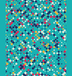 square mosaic pattern background vector image