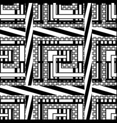 striped geometric ornamental greek seamless vector image