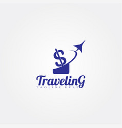 Travel agency icon templatecreative logo design vector