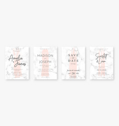 Wedding card design with pink brush strokes and vector
