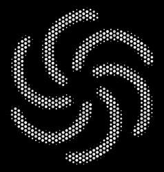 White dot galaxy icon vector