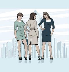 Women meeting outdoors vector
