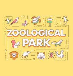 Zoological park word concepts banner zoo animals vector