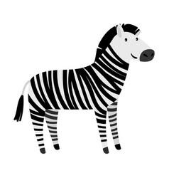 cute zebra cartoon animal icon vector image