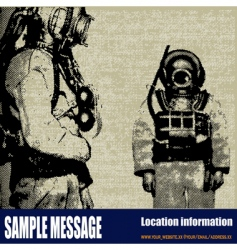 deep sea diver background vector image vector image