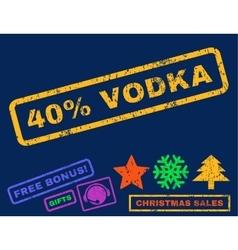 40 Percent Vodka Rubber Stamp vector image vector image