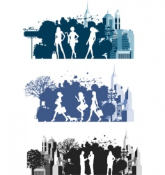 citizens vector image