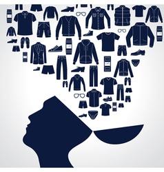 Men s fashion background vector image