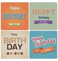 Vintage Happy Birthday Card EPS10 vector image vector image