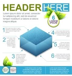 Water Flyer Template vector image