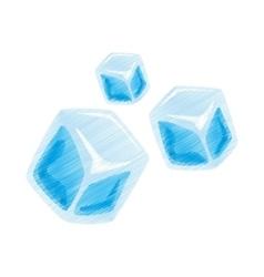cartoon set ice cubes transparent vector image
