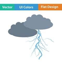 Clouds and lightning icon vector image
