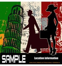 Italian travel background vector image vector image