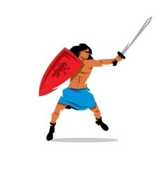 Warrior man Cartoon vector image vector image