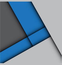 abstract blue arrow gray modern vector image vector image