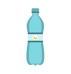 blue bottle of water icon flat style vector image vector image