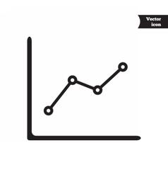 Business progress chart vector image
