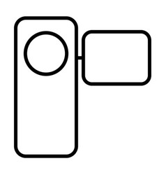 camcorder thin line icon pictogram vector image vector image